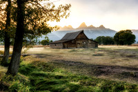 20180909-JAH03002:  The most-photographed barn on Earth at Mormon Row with Grand Teton in the back.