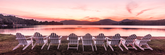 20180820-JAH02324:  Adirondack chairs waiting for you at Blue Mountain Lake, Adirondacks NY.