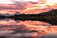 20180908-JAH02581: Mt. Moran across the Snake River at Oxbow Bend, Grand Teton NP.