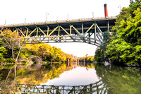 20170916-JAH07155: The Genesee river flowing under the Smith & Bausch St. bridge.