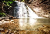 20180528-JAH09287: This waterfall in Grimes Glen has some climbing ropes to the left if you dare!