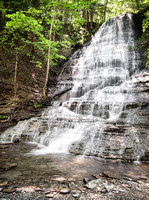 20180528-JAH09277: The very first waterfall you encounter at Grimes Glen in Naples NY!