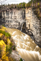 20170422-JAH02194: Inspiration Falls descends from Inspiration point in Letchworth State Park NY.