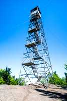 20180611-JAH09848: Goodnow Mountain fire observation tower in Newcomb, Adirondacks NY.