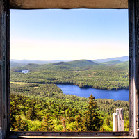 20180611-JAH09868: Goodnow Mountain fire observation tower in Newcomb, Adirondacks NY (square image)