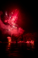 20190703-JAH08332: Ring of Fire fireworks on Conesus Lake in the Finger Lakes region of NY State.