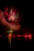 20190703-JAH08303: Ring of Fire fireworks on Conesus Lake in the Finger Lakes region of NY State.
