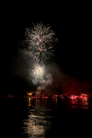 20190703-JAH08541: Ring of Fire fireworks on Conesus Lake in the Finger Lakes region of NY State.